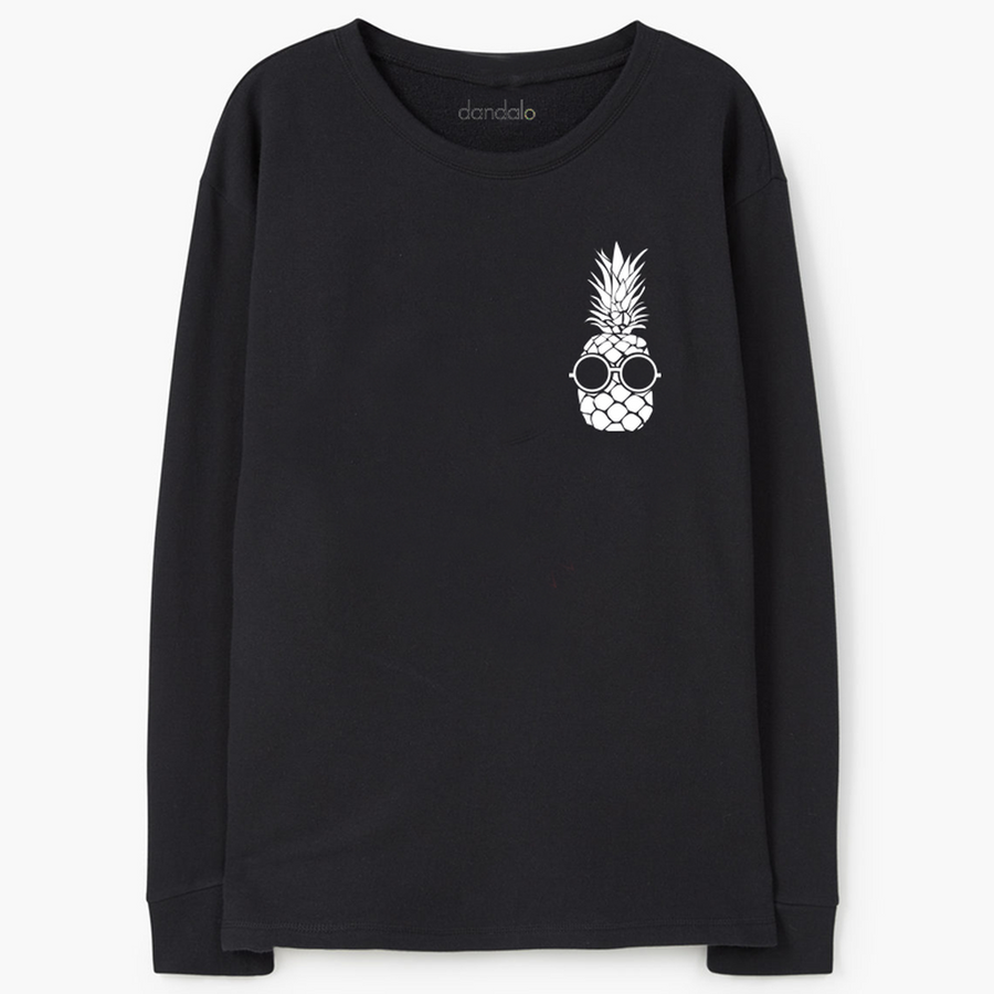 "Sweatshirt ""Pocket Ananas"" Top"