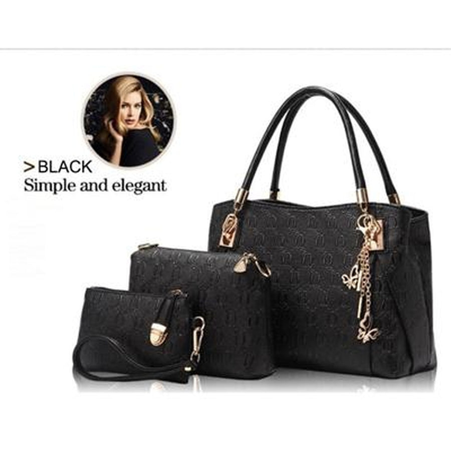 3 Sets High Quality Leather Bag