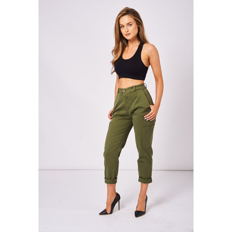 Cargo Trousers In Khaki Ex-Branded