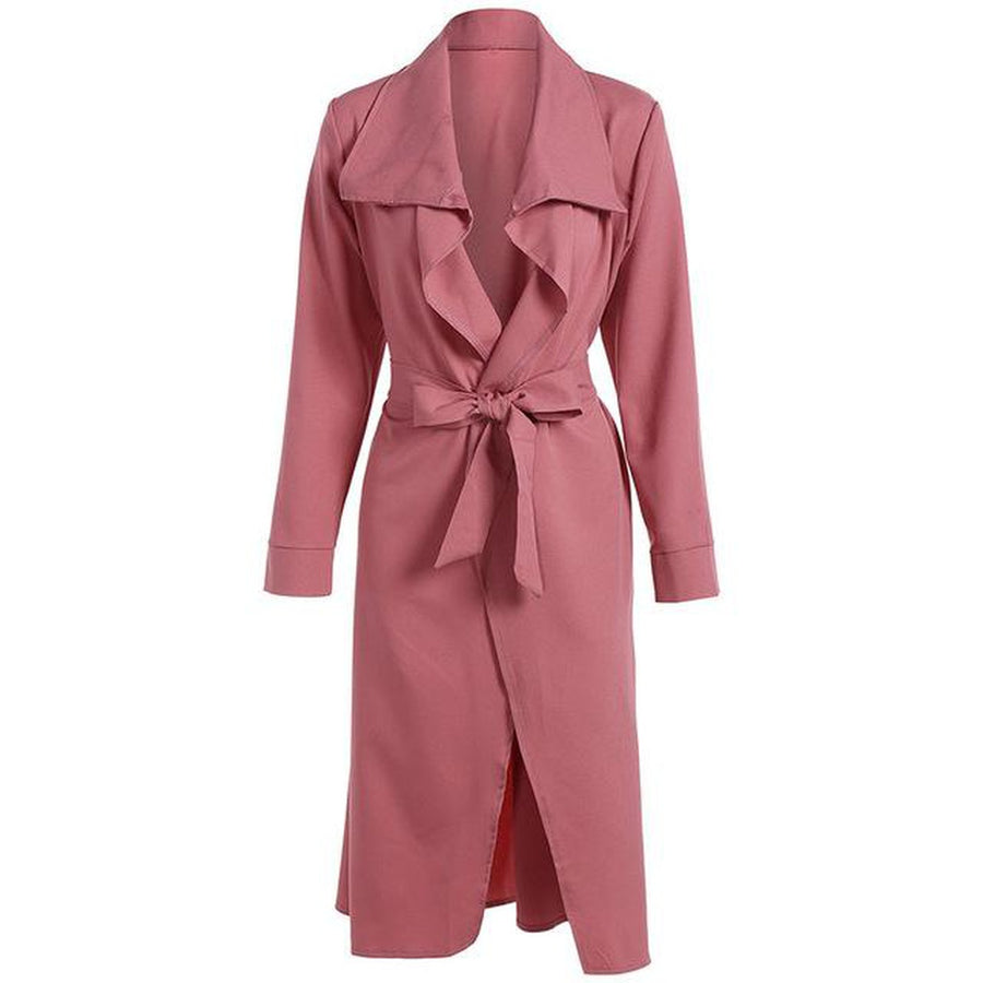 Long Trench Coat Belted