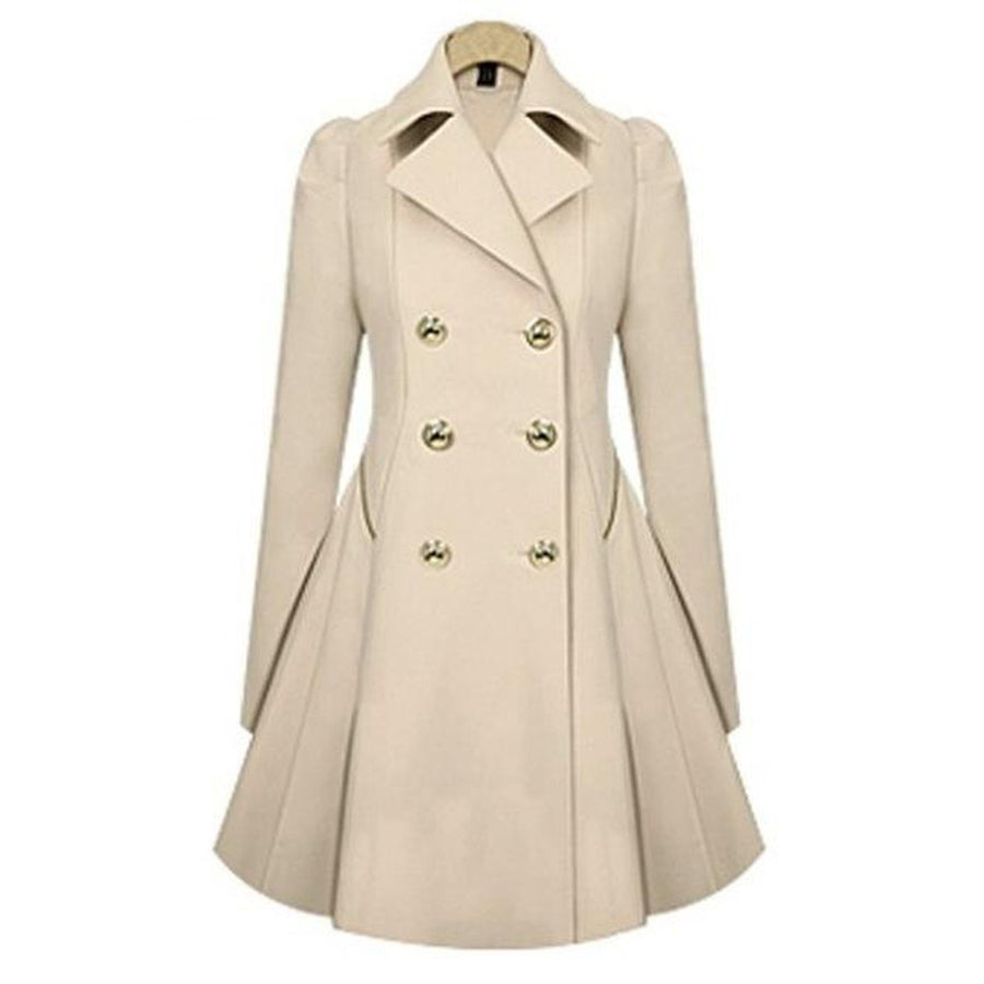 Winter Trench Coat Long Sleeve Overcoat