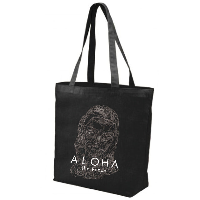 [BAG] HULA GIRL FACE TOTE BLACK
