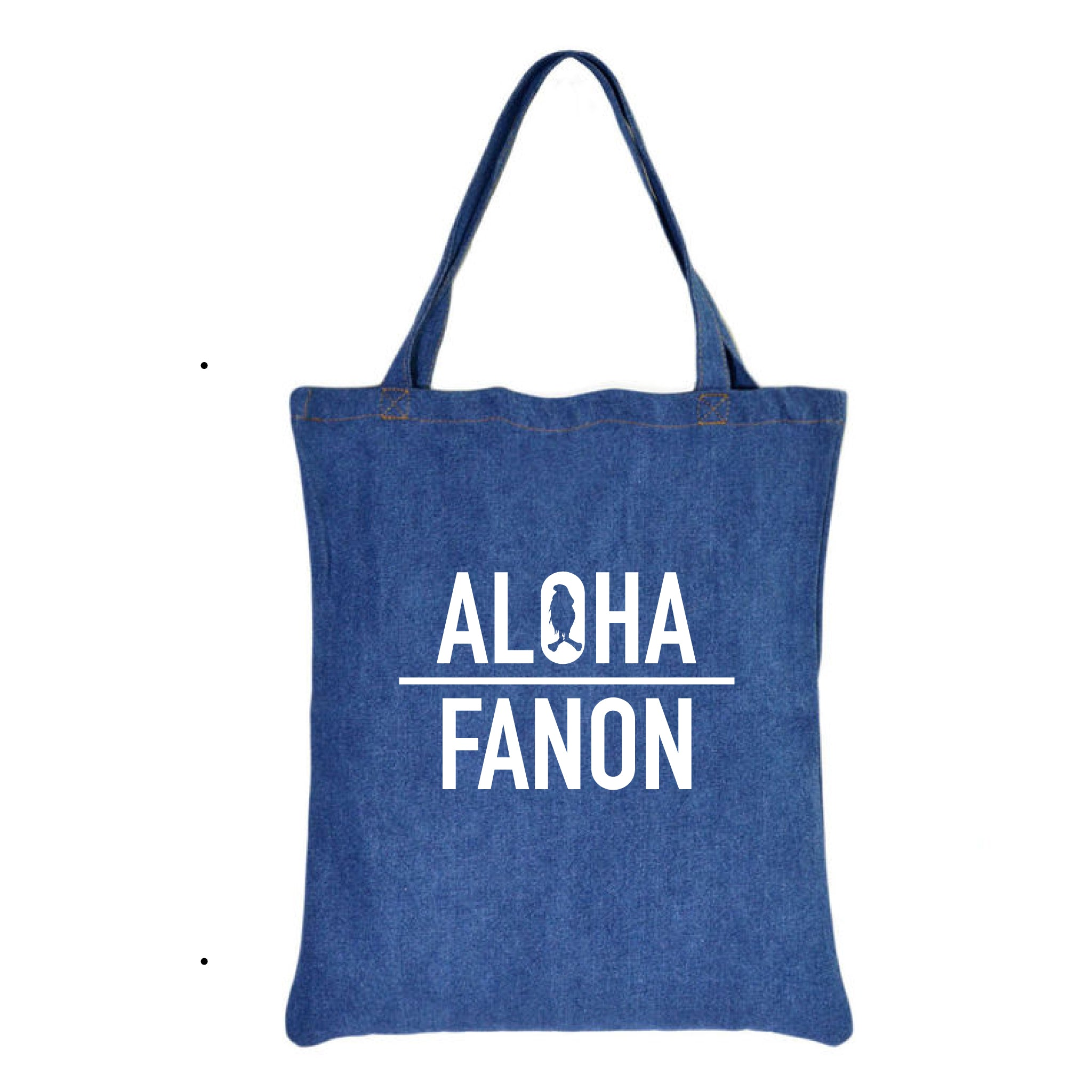 [BAG] DENIM ALOHA FANON TOTE BAG