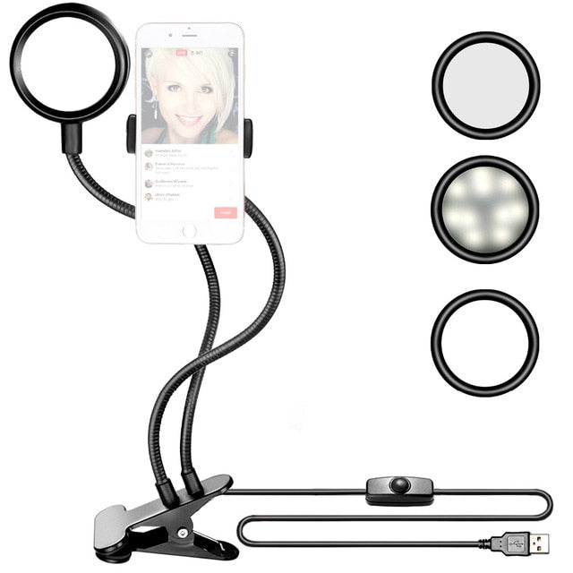 LED Ring Light With Smart Phone Holder - tigers-galleria