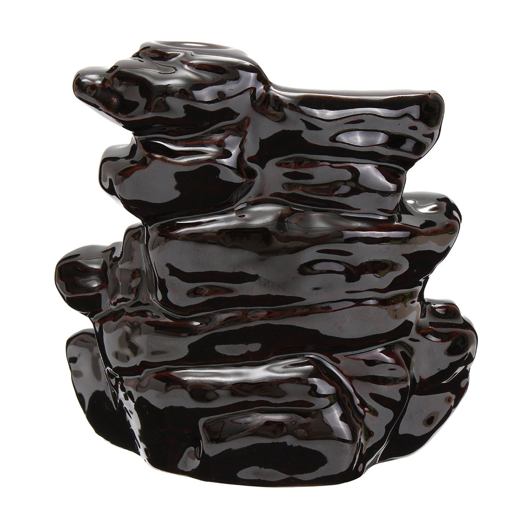 Backflow Incense Cone Burner Stick Holder Mountain Stone Waterfall Fragrance Fragrant Censer Decor - tigers-galleria