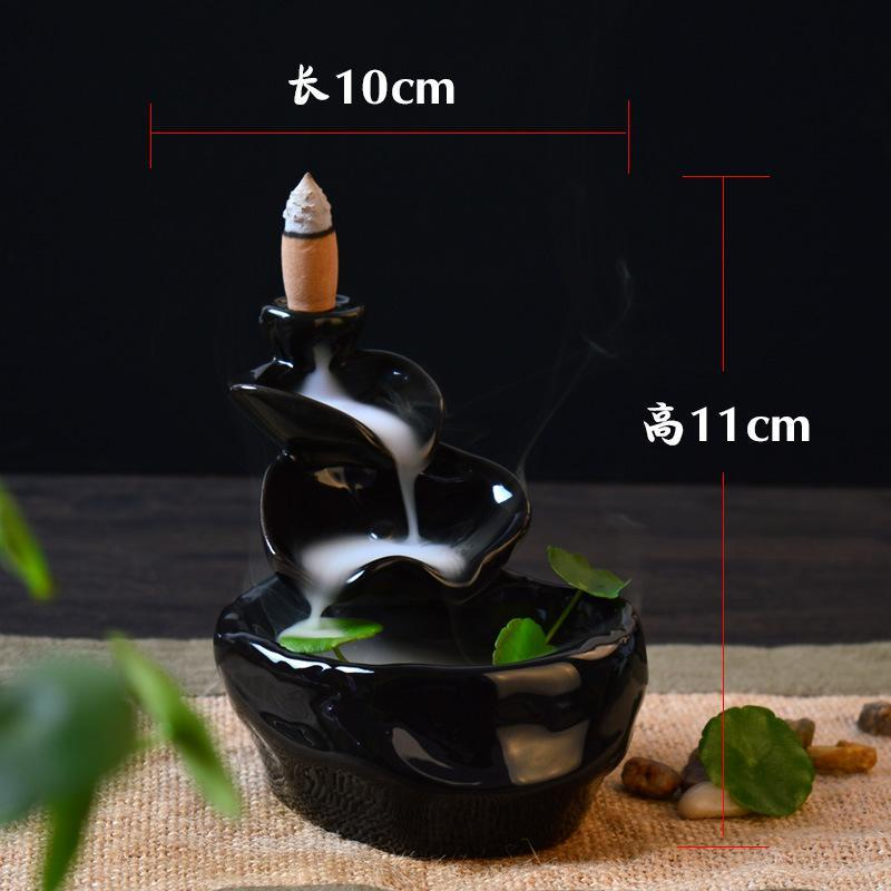 Black Lotus Backflow Incense Holder - tigers-galleria