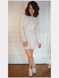 Adult Dress - Bésame Mucho (Cream/Light Grey)