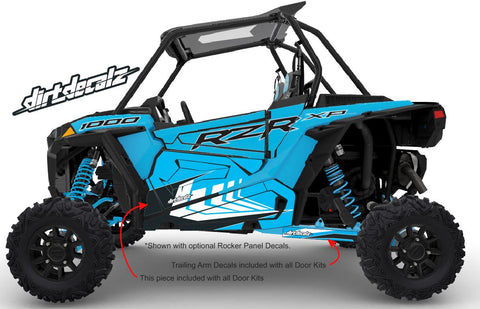 2020 Sky Blue XP 1000 Door Graphics