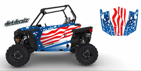 RZR S 900 / RZR S 1000 - Patriot Graphic