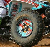 ATV Front Wheel Decals w/ Rim Strips