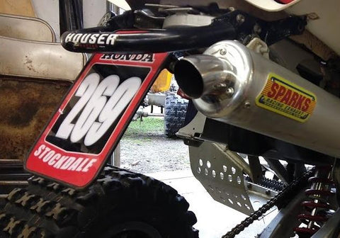 ATV Grab Bar Number Plate Decals