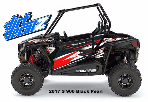 Lower Door Graphics - RZR S 900 – Dirt Decalz