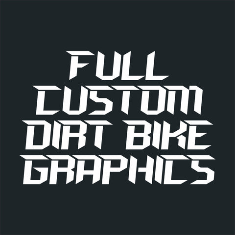 Full Custom Dirt Bike Graphics Kit
