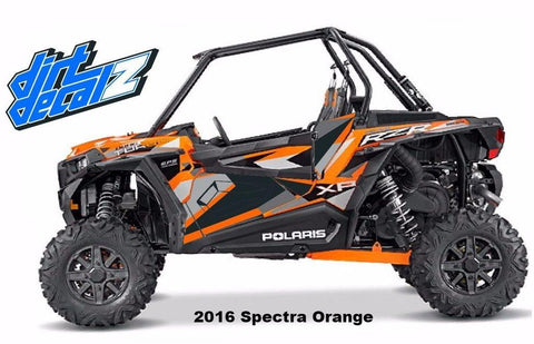 2016 Spectra Orange XP Turbo Door Graphics