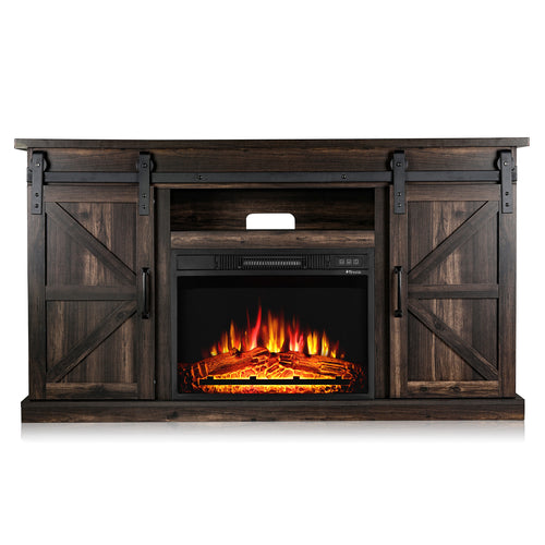 Fireside FS58 TV Stand with Fireplace, for TVs up to 65