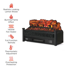 Eternal Flame EF23-PB Electric Fireplace Logs Heater, Pinewood