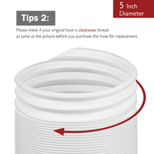"Portable Air Conditioner Exhaust Hose, 5"" x 78"", Clockwise"
