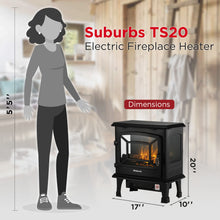 Suburbs TS20 Freestanding Electric Fireplace Stove Heater