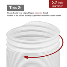 "Portable Air Conditioner Exhaust Hose, 5.9"" x 78"", Clockwise"