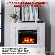 In Flames 23 Inch in-Wall Recessed Electric Fireplace