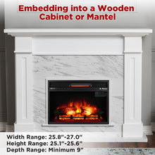 In Flames 26 Inch in-Wall Recessed Electric Fireplace