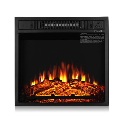 Fireside FS18 Realistic Flames Electric Fireplace, 18'' (Remote Control)