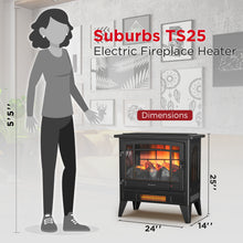 Suburbs TS25 Freestanding Electric Fireplace Stove