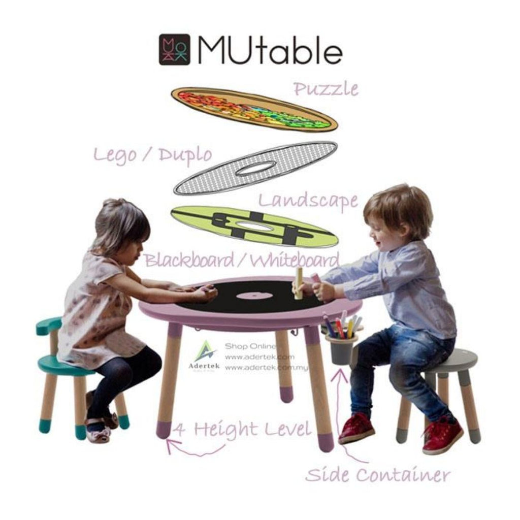 MUtable and Chairs for 1-8 yo
