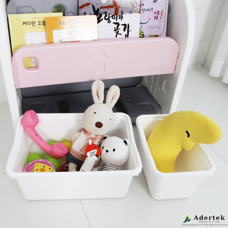 Easy Book Shelf (2 level + Toy Box) - IFAM (Made in South Korea) - Adertek Lifestyle
