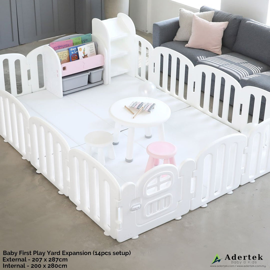 Both side usable baby play mat - white for pure white Baby FIRST Play Yard