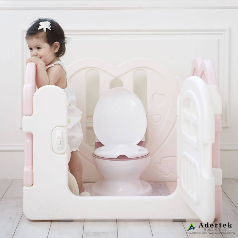 Combine with IFAM play yard to create a toilet corner for your child's privacy