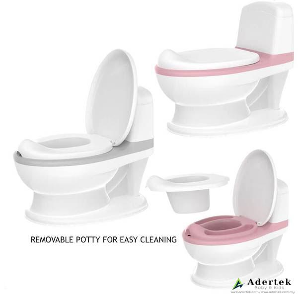 Easy Toddler Potty Training comes with lid and a removable potty holder for easy cleaning