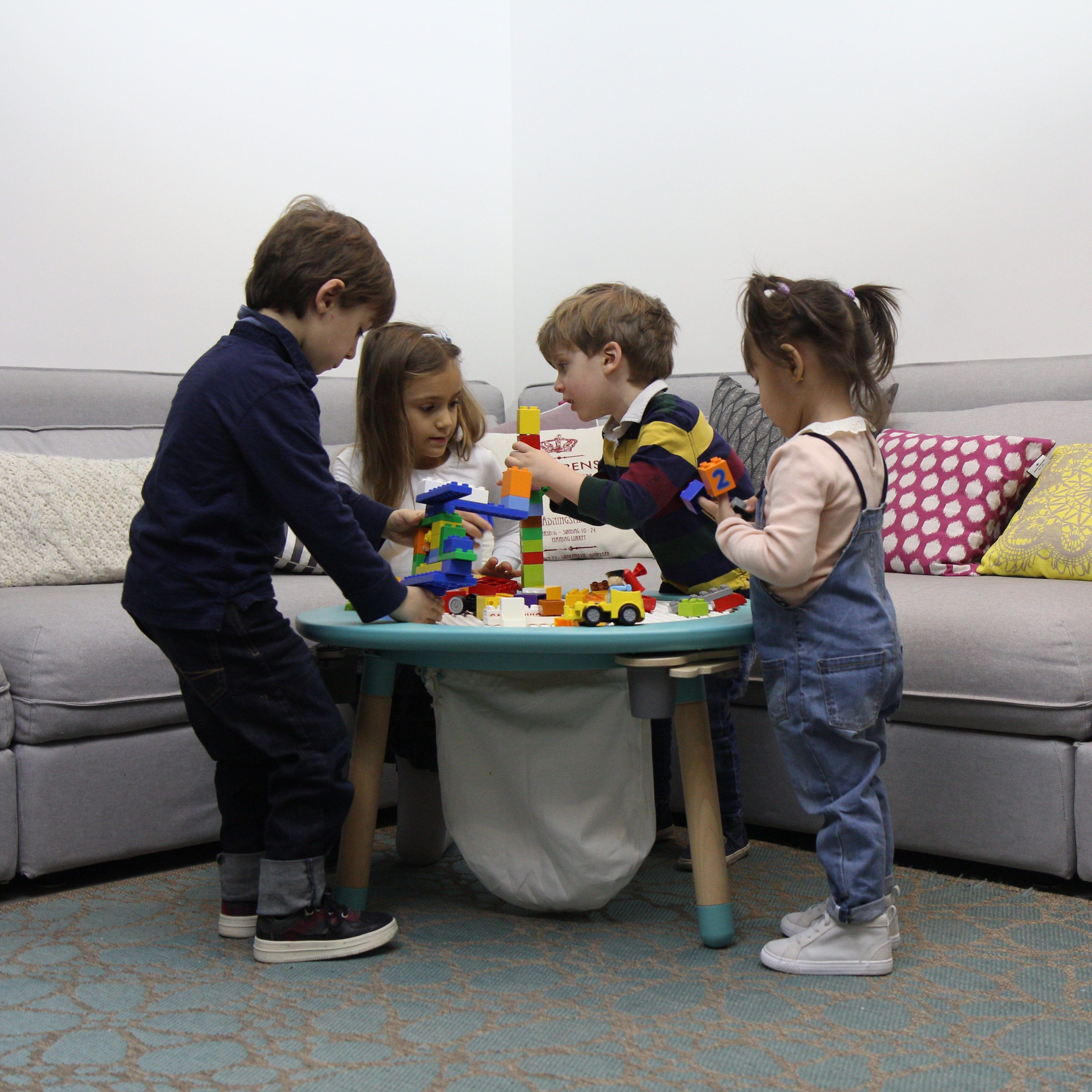 Children play table with activities and games for all age