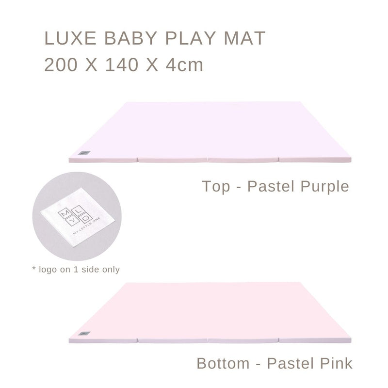 MyLO LUXE Play Mat Pastel Pink/Purple