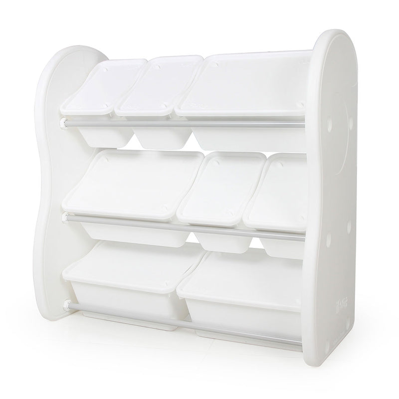 Elephant Storage Rack (4 Big 4 Small) - White