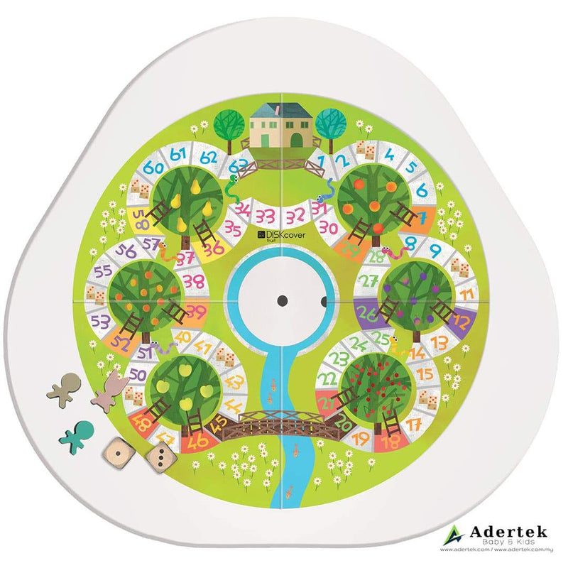 Side B - Diskcover Vegetables board game