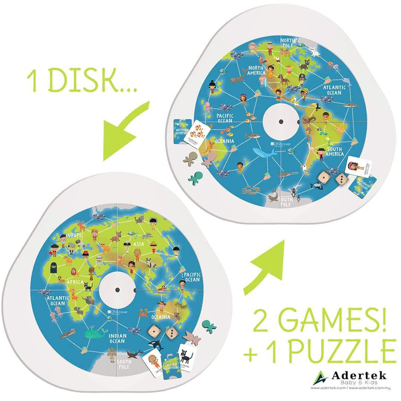 Diskcover 'We are the World' Puzzle & Activity Board
