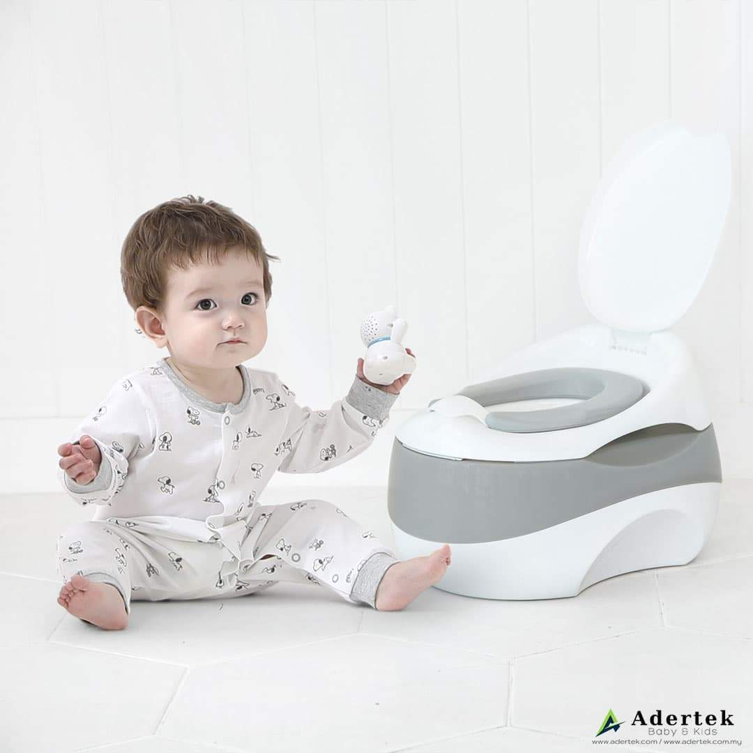 Suitable potty height for little ones