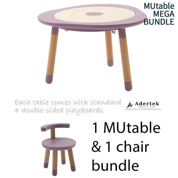 MUtable Bundle - Children Activity Play Table + 1 Chair (5% OFF) - Mauve