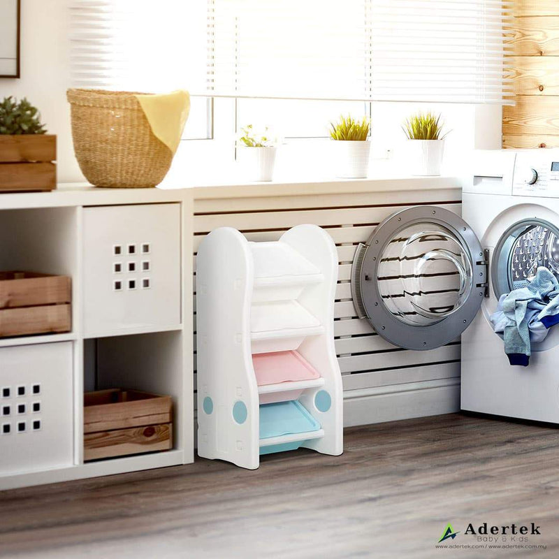 Toilet friendly storage for towels, clothes or bath accessories.