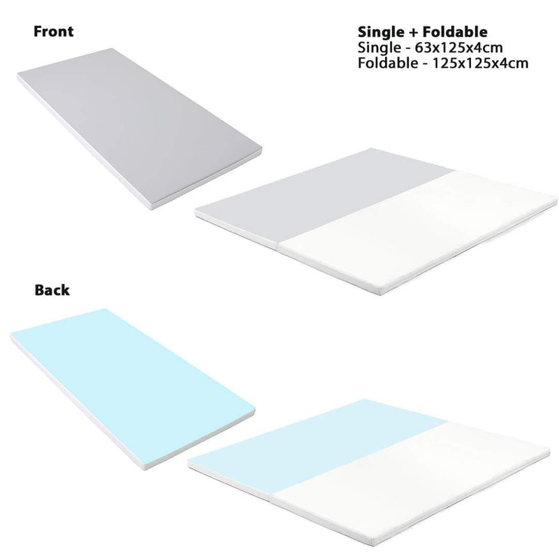 Shell Baby Play Mat Foldable  (125x125x4cm) + Single (63x125x4cm)