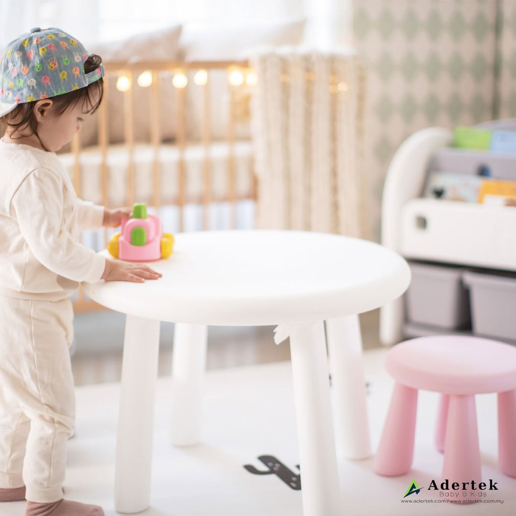 (Pre-Order) Easy Child Table + 2 Stools Set - IFAM (Made in South Korea) - Adertek Lifestyle