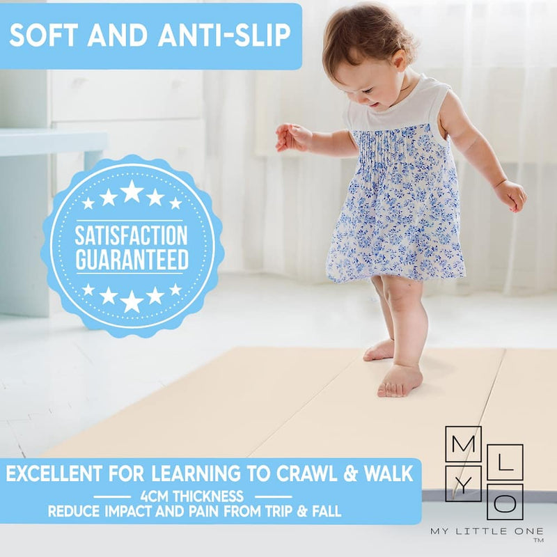 LUXE Baby Play Mat is suitable for learning to sit, crawl, stand and walk.