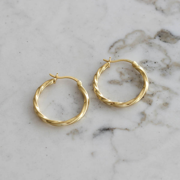 ANTHEIA HOOP EARRINGS GOLD