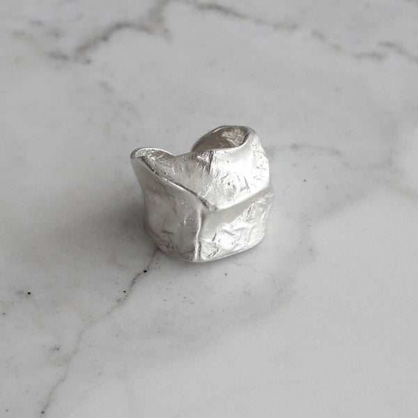 Chunky sterling silver ring adjustable. Hemera and Nyx Jewellery