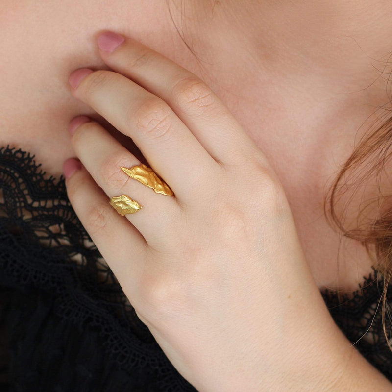Sterling Silver Ring with 18ct Gold Plating