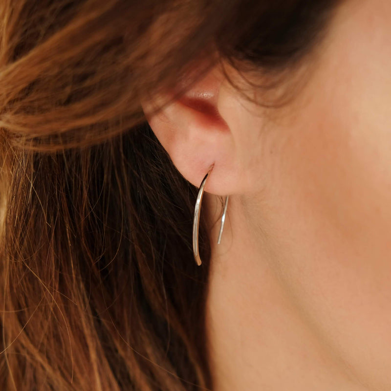 Sterling Silver Paperclip Earring