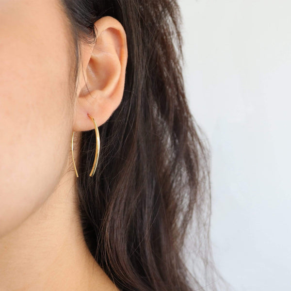 TRIDENT EARRINGS (GOLD)m Hoop Earring, Hemera & Nyx