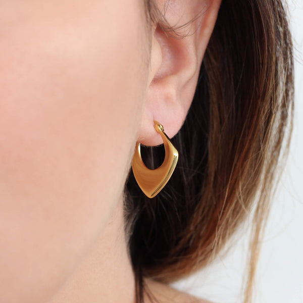 18ct gold plated sterling silver hoops