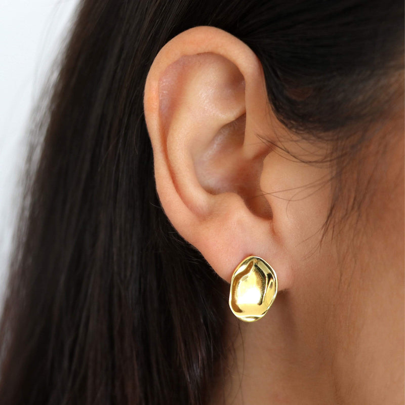 Sterling silver stud with 18ct yellow gold plating by Hemera & Nyx Sterling Silver Jewellery Australia